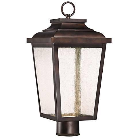 "Irvington Manor 18"" High Bronze LED Outdoor Post Light"