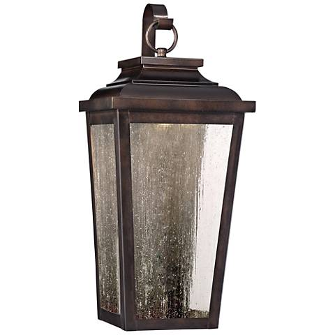 "Irvington Manor 19""H Bronze LED Outdoor Pocket Wall Light"