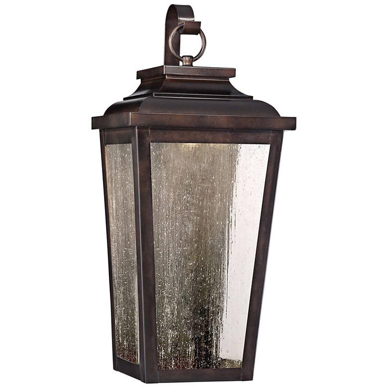 "Irvington Manor 19""H Bronze LED Outdoor Pocket Wall Light"