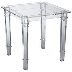 Lucite Acrylic Square End Table