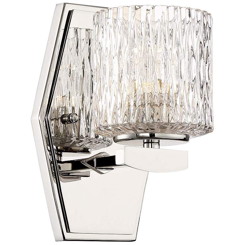 """Maginot 8"""" High Polished Nickel LED Wall Sconce"""