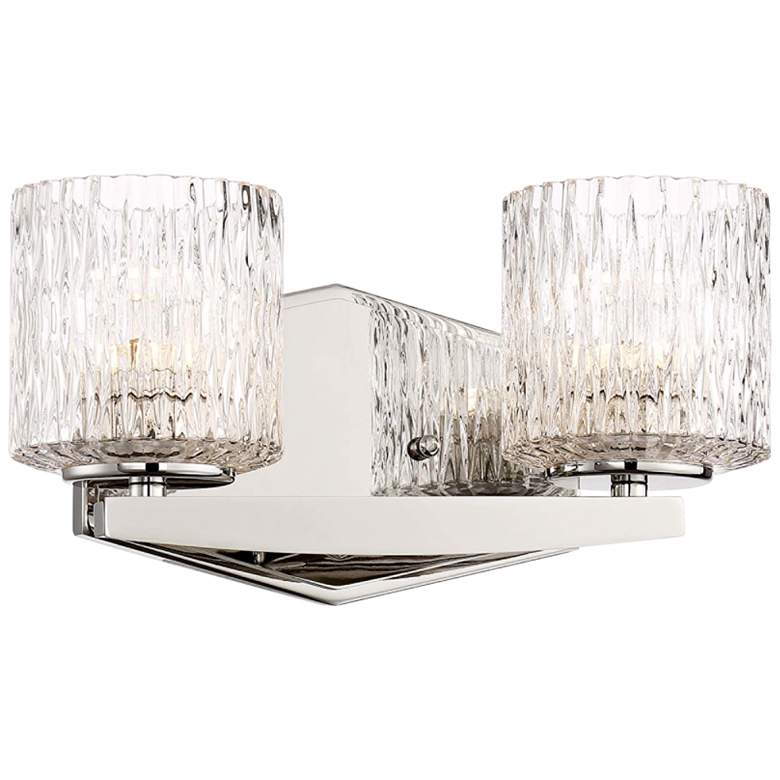 """Maginot 5 3/4"""" High Nickel 2-Light LED Wall Sconce"""