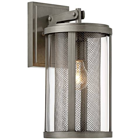 "Radian 14 1/2"" High Brushed Nickel Outdoor Wall Light"