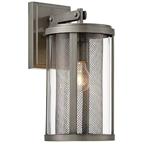 Radian 14 12 high brushed nickel outdoor wall light 32r58 radian 14 12 high brushed nickel outdoor wall light workwithnaturefo