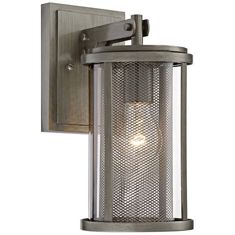 "Radian 12 1/2"" High Brushed Nickel Outdoor Wall Light"