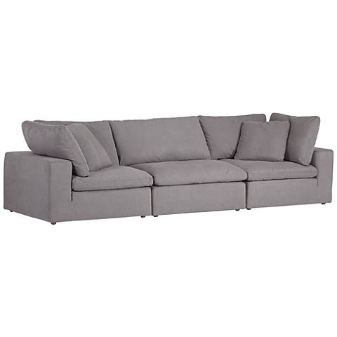 Skye Peyton Slate Gray 3-Piece Modular Sectional Set