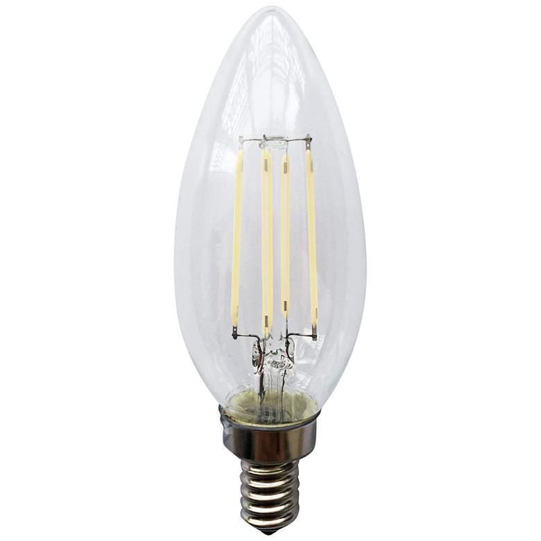 Clear 4 Watt E12 Candelabra Base Filament LED
