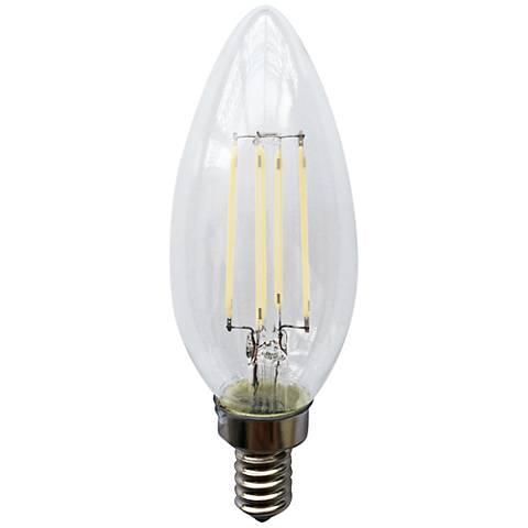Clear 4 Watt E12 Candelabra Base Filament LED Light Bulb
