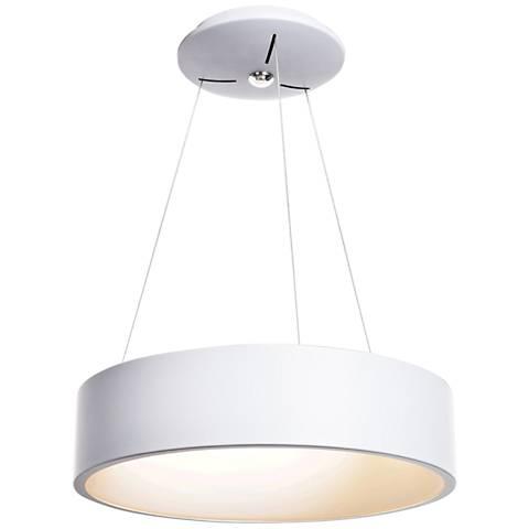 """Radiant 17 3/4"""" Wide White LED Pendant Light"""