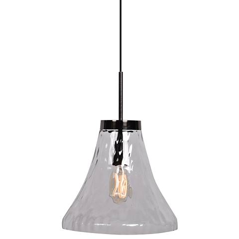 "Simplicite 11 3/4"" Wide Clear Glass Mini Pendant"