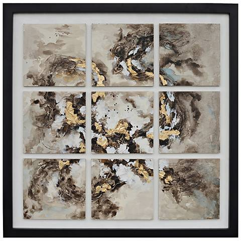 """9 Times 45"""" Square Tiles Mounted and Framed Wall Art"""