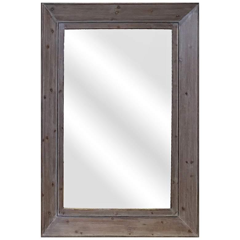 """Farm House IV Natural 35"""" x 47"""" Wall Mirror"""