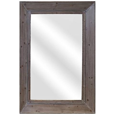 "Farm House IV Natural 35 1/4"" x 47 1/4"" Wall Mirror"