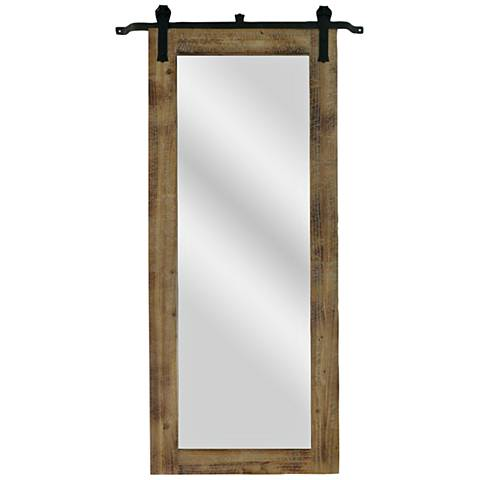 "Barn House Natural 31"" x 70 1/4"" Floor Mirror"