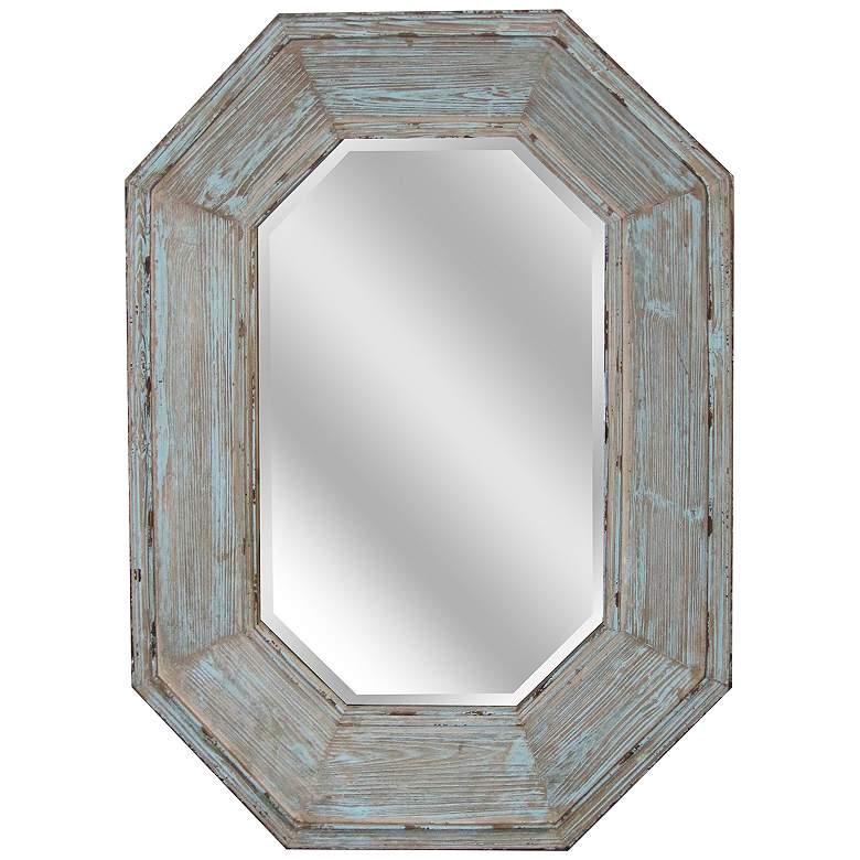 """Sarge Natural and Gray 34 1/2"""" x 48"""" Wall Mirror"""