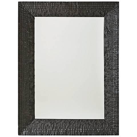 "Kyoto Matte Black 36"" x 47 3/4"" Wall Mirror"