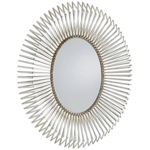 """Andrea Silver Leaf 32"""" x 38"""" Wall Mirror"""