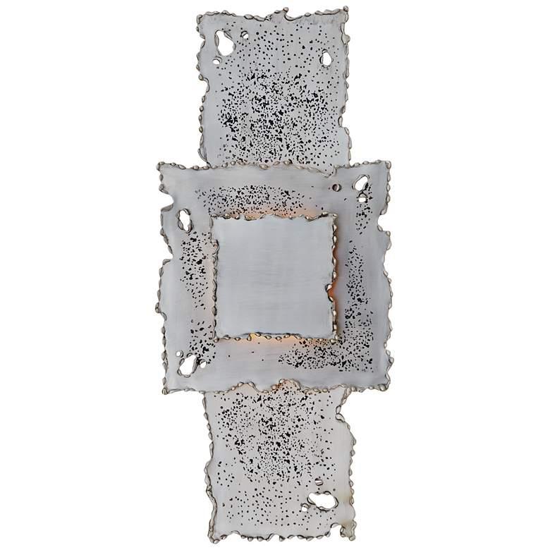Melting Antique Nickel Plug-In Wall Lamp