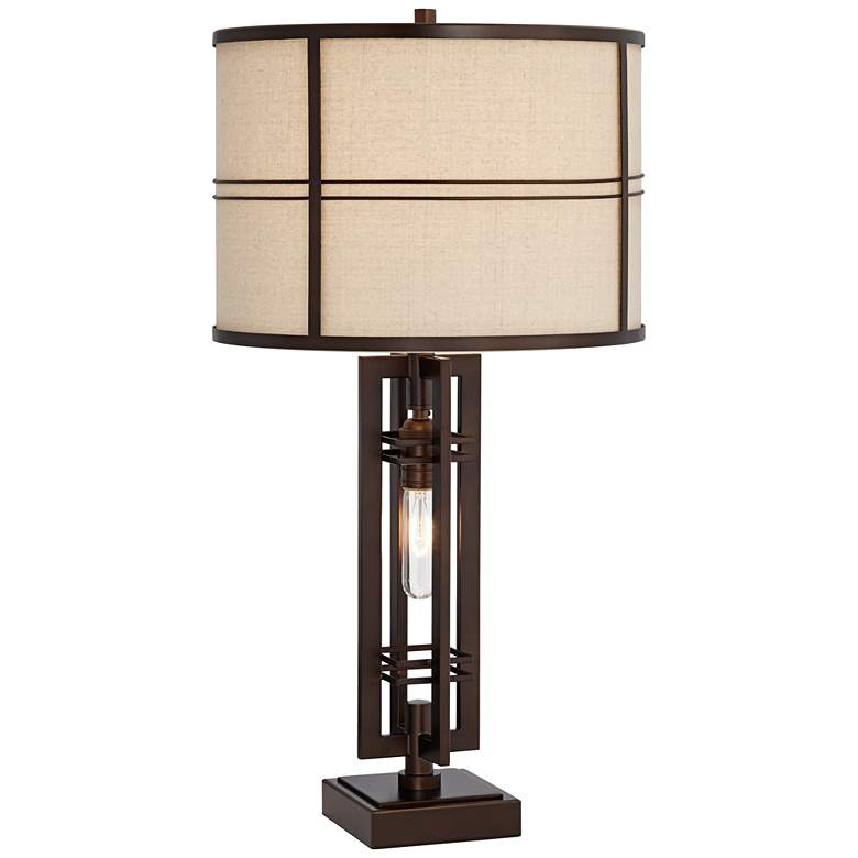 Elias Oil-Rubbed Bronze Table Lamp with Night Light