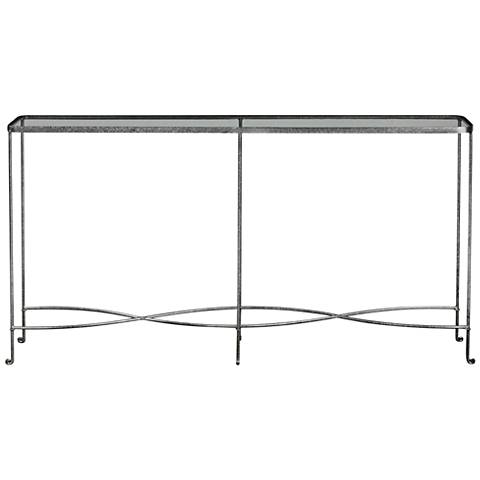 Uttermost Aubrey Silver Iron Console Table
