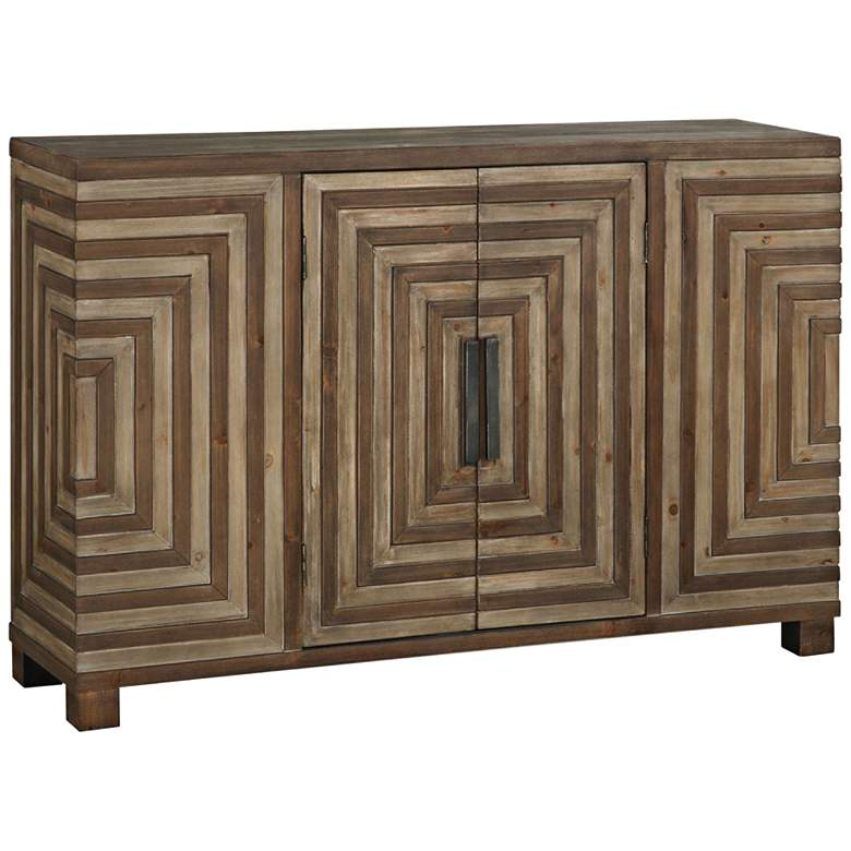 "Layton 48 1/2"" Wide 2-Door Rustic Wood Console Cabinet"