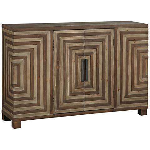 Uttermost Layton Rustic 2-Door Wood Console Cabinet
