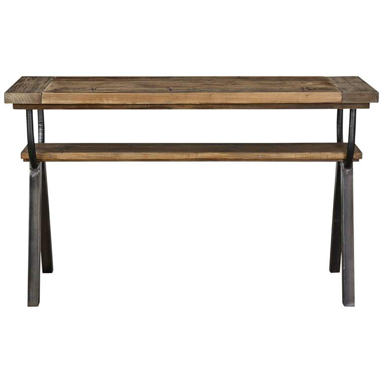 "Uttermost Domini 52"" Wide Warm Honey Console Table"