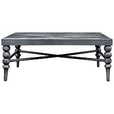 Uttermost Kunja Charred Gray Rectangular Wood Coffee Table