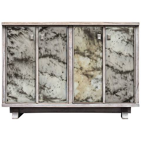 Uttermost Corban Aged Ivory 4-Door Wood Console Cabinet
