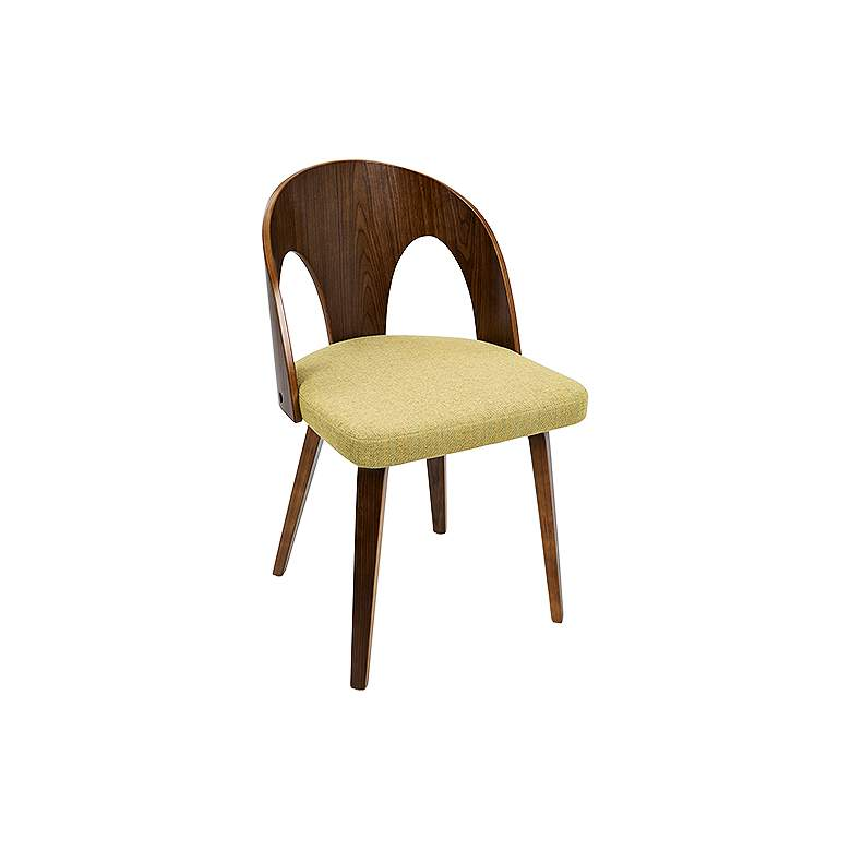 Ava Yellow Fabric Contemporary Modern Dining Chair