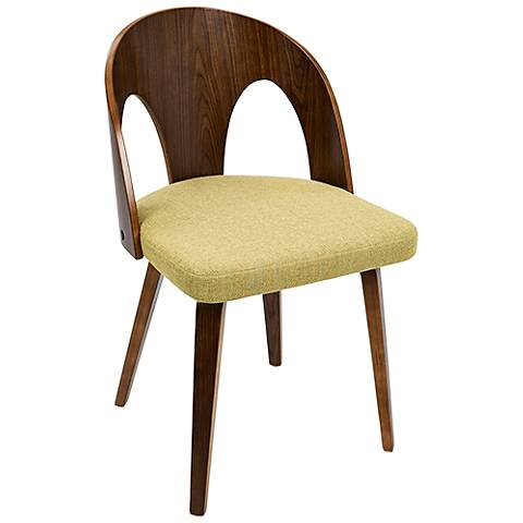 Ava Yellow Fabric Dining Chair