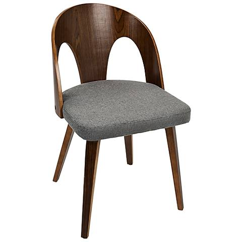 Ava Gray Fabric Contemporary Modern Dining Chair
