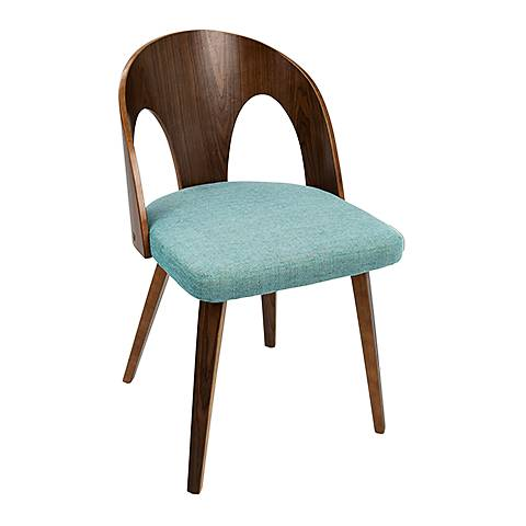 Ava Teal Fabric Dining Chair