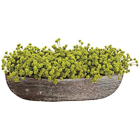 """Green Baby's Breath 14"""" Wide Faux Flowers in Pot"""