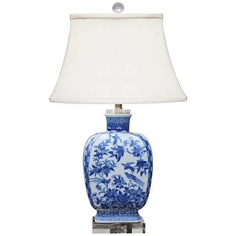 Shiyan Blue and White Porcelain Table Lamp