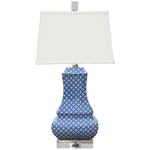 Troy Blue and White Porcelain Table Lamp