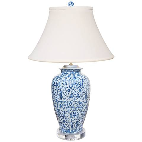 Avon Blue and White Porcelain Urn Table Lamp