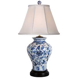 Jinan Blue And White Porcelain Table Lamp