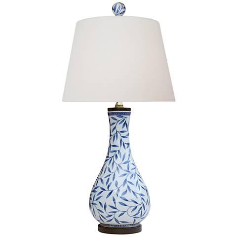 Yangtze Blue and White Porcelain Vase Table Lamp
