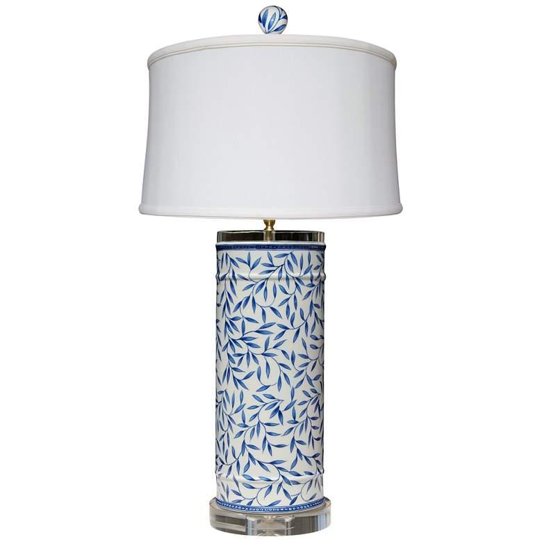 Yangtze Blue and White Porcelain Cylinder Table Lamp