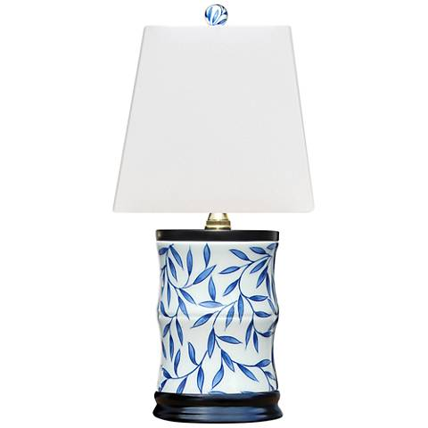 "Yangtze 15"" High Blue and White Porcelain Accent Table Lamp"