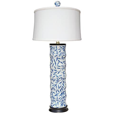 Yangtze Blue and White Porcelain Tall Table Lamp