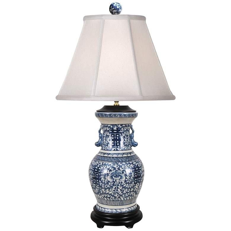 Claude Blue and White Porcelain Table Lamp