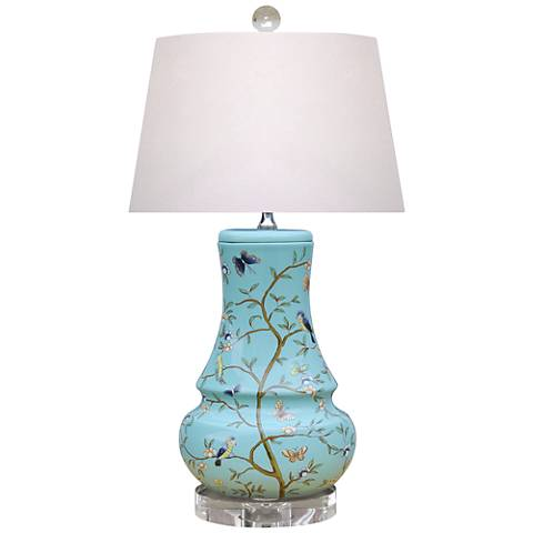 Brighton Sky Blue Porcelain Accent Table Lamp