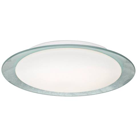 "Besa Tuca 15 1/2""W Silver Foil Opal Matte LED Ceiling Light"