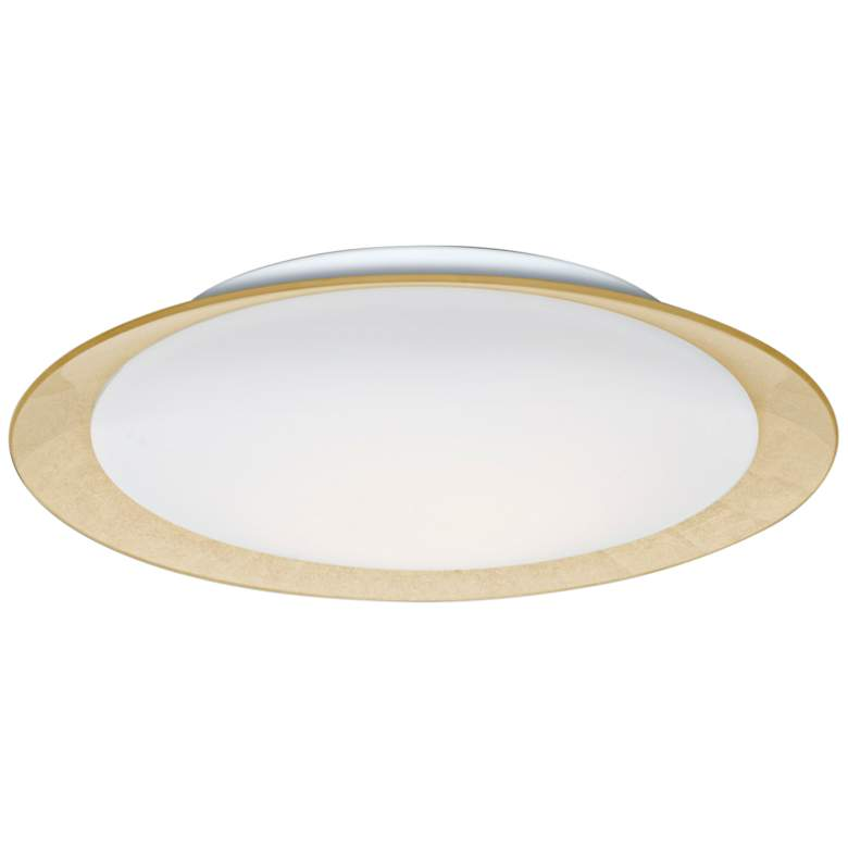 """Besa Tuca 19 1/4""""W Gold Foil Opal Matte LED Ceiling Light"""