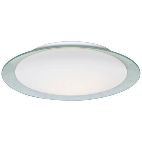 """Besa Tuca 19 1/4""""W Silver Foil Opal Matte LED Ceiling Light"""