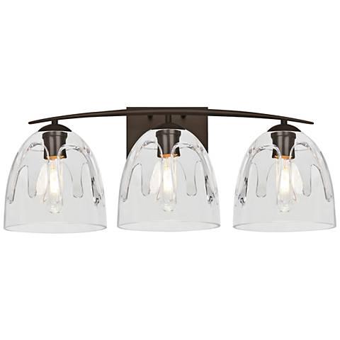 Bathroom light fixtures vanity lights lamps plus besa phantom 25w bronze and clear glass 3 light aloadofball Gallery