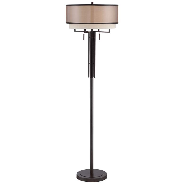 Franklin Iron Works Alamo Double Shade Floor Lamp