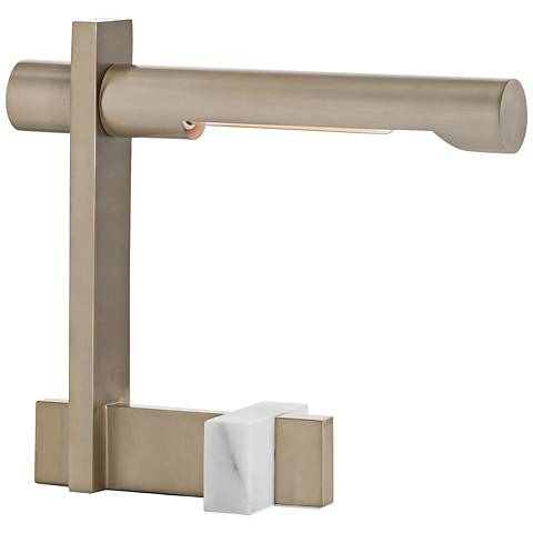 Arteriors Home Gawlik Pale Brass and White Marble Desk Lamp